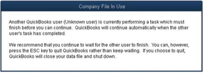 QuickBooks Desktop locked file error