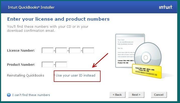 Support QuickBooks intuit license number