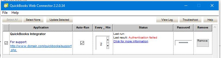 List of QuickBooks Web Connector Error