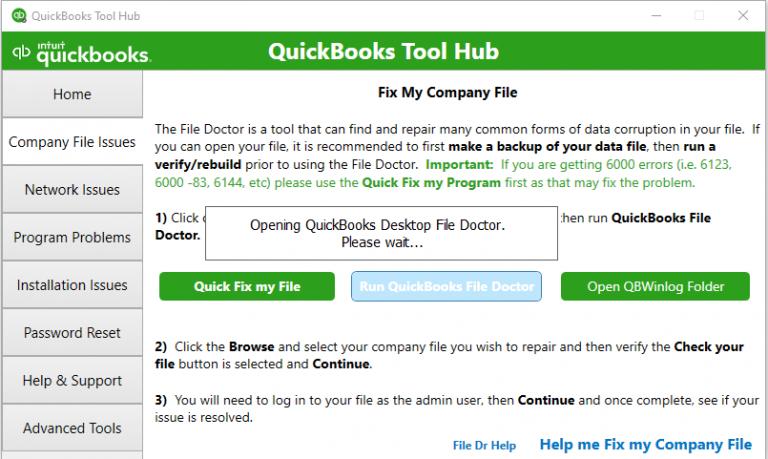 QuickBooks Desktop File Doctor