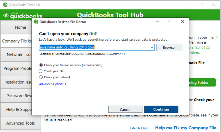 QuickBooks File Doctor direct download
