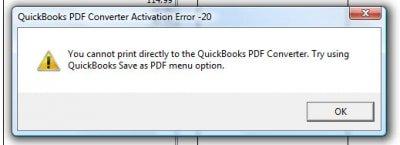QuickBooks Error 20