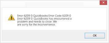 QuickBooks error code 6209