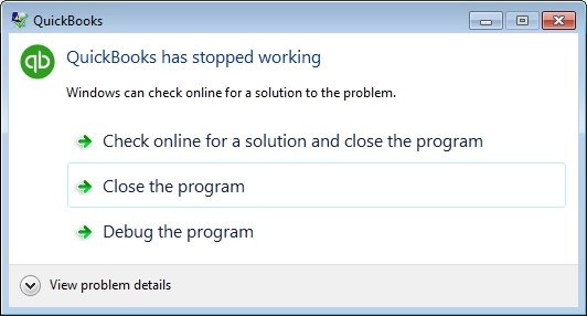 QuickBooks Crashes When Opening