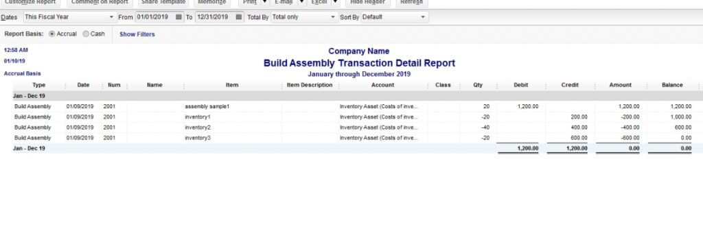 What is Job Supplies in QuickBooks