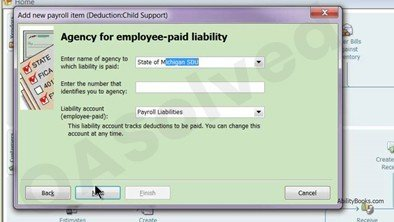 How to add child support in QuickBooks