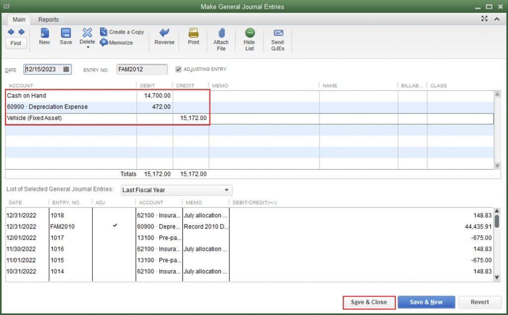How to Record a vehicle Purchase in QuickBooks