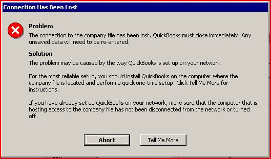 Why does QuickBooks keep aborting
