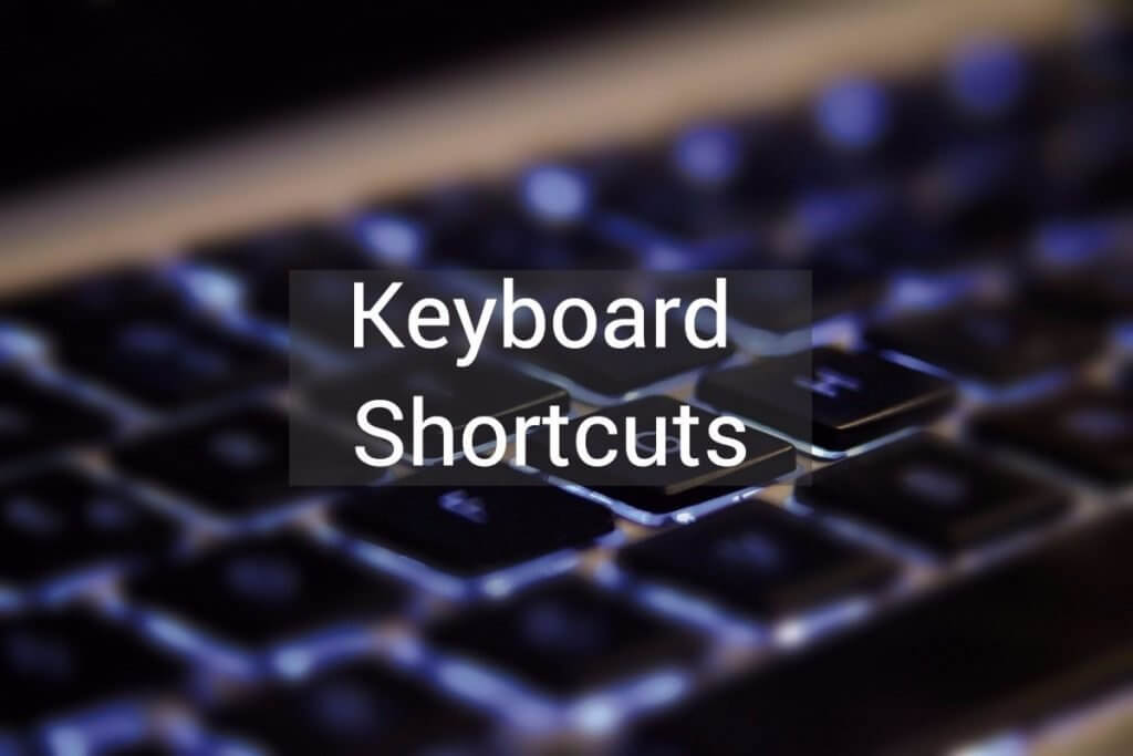Keyboard Shortcuts in QuickBooks Desktop