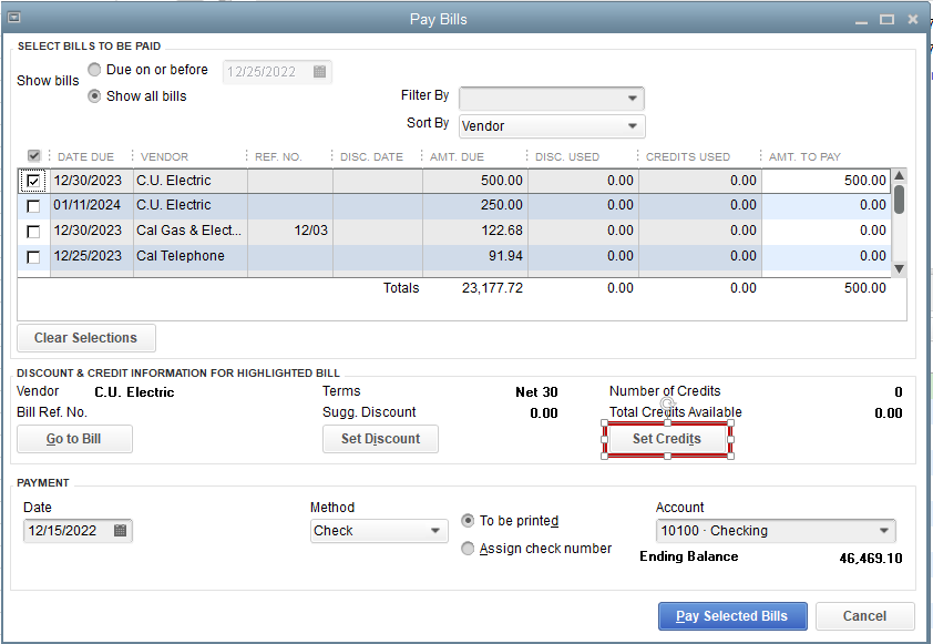 How to remove old bills from QuickBooks