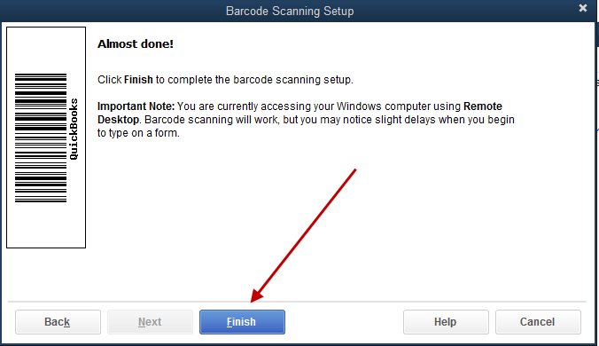 Set up and use barcode scanner in QuickBooks desktop