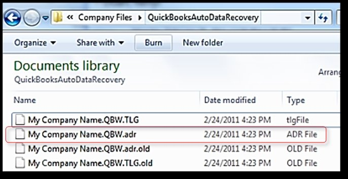 What is an adr vs old file in QuickBooks