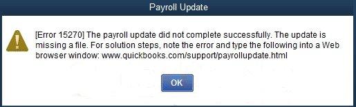 QuickBooks Payroll Update Error