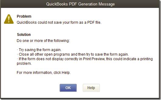 QuickBooks pdf converter not working