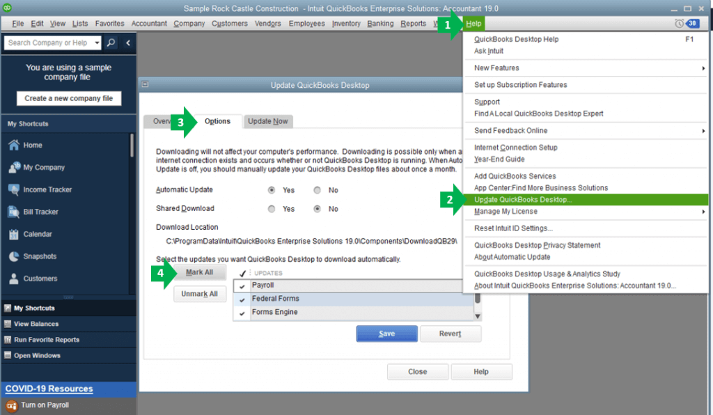 Tracking COVID19 Paid Leave in QuickBooks Desktop
