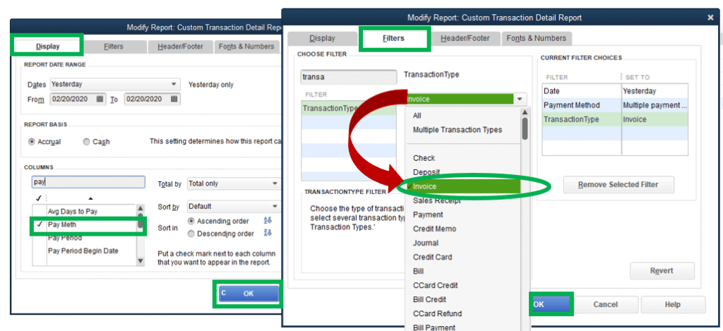 How to find the latest invoice in QuickBooks